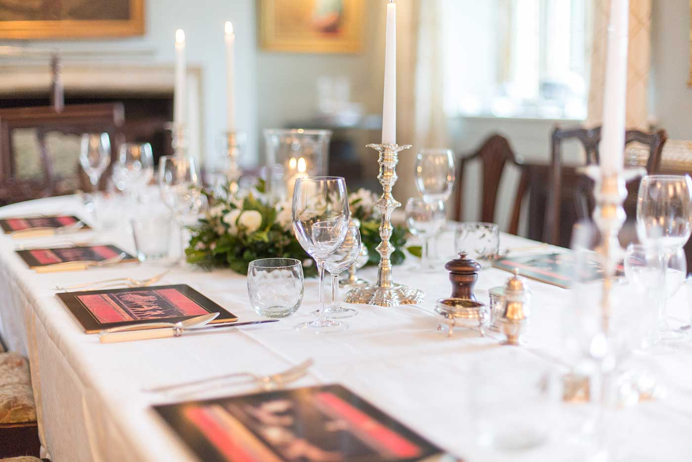 Private dining at Midelney Manor
